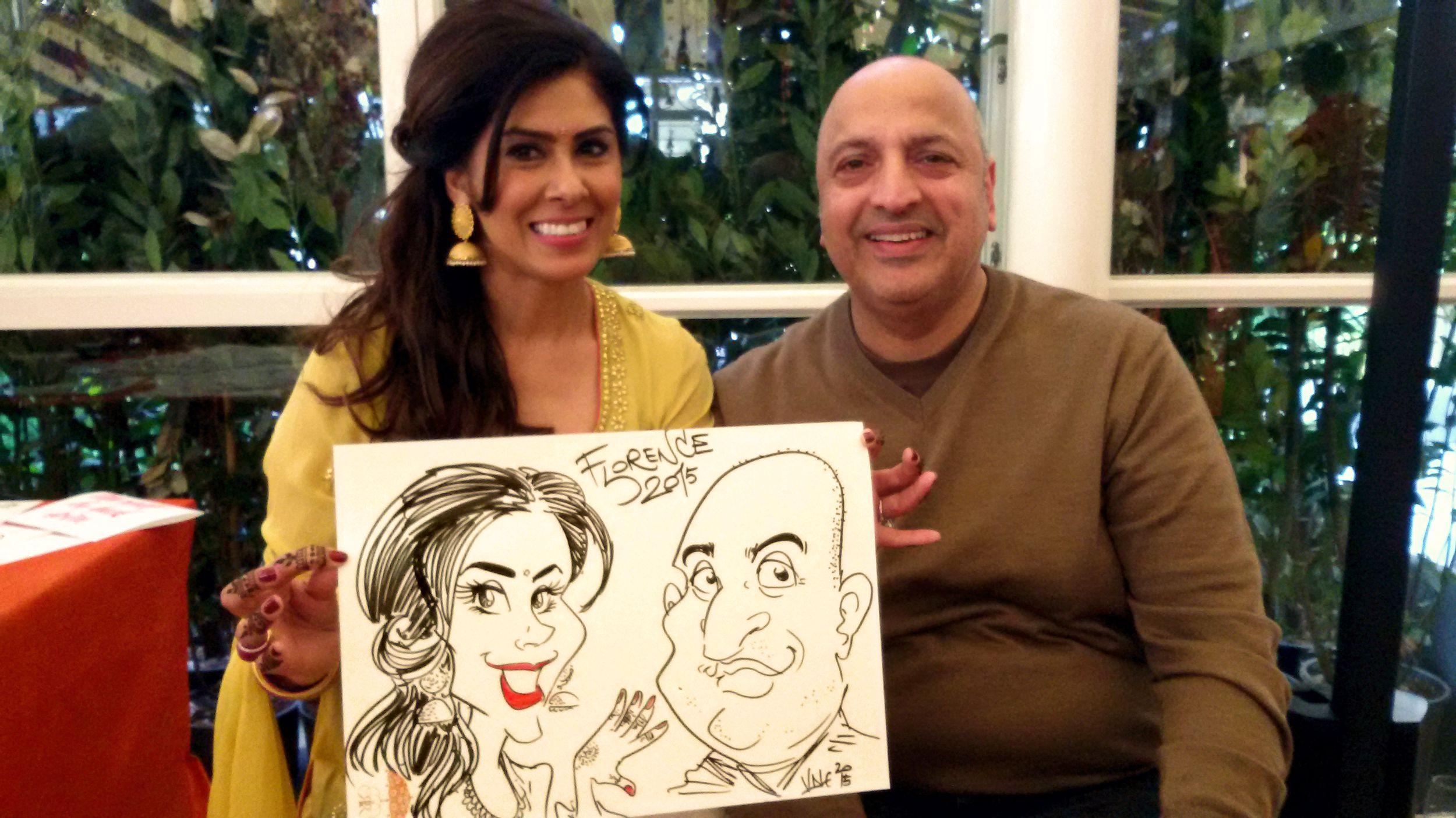 caricaturista matrimonio