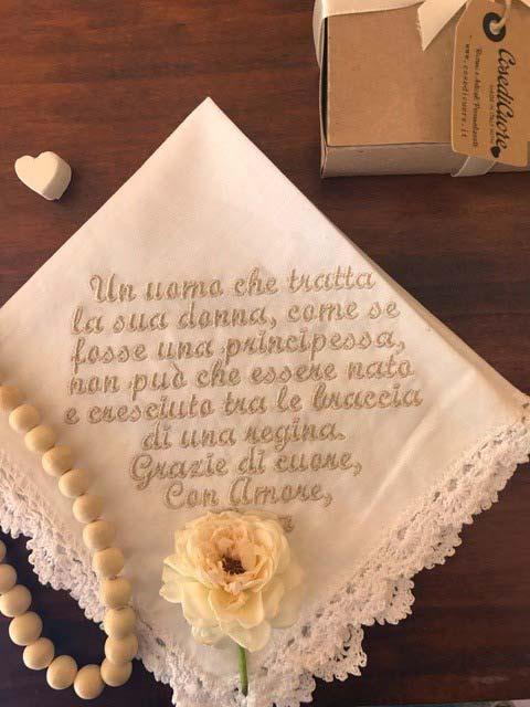 fazzoletto della sposa come regalo per la suocera