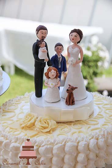 cake topper matrimonio con figli
