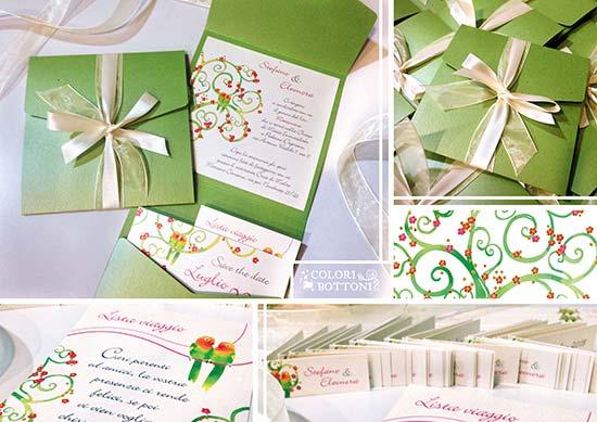 inviti matrimonio particolari albero
