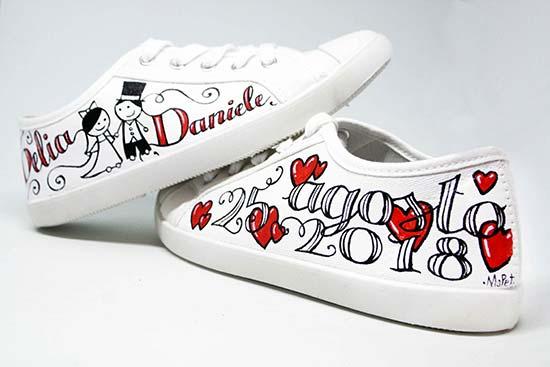 scarpe personalizzate per il matrimonio converse nomi sposi