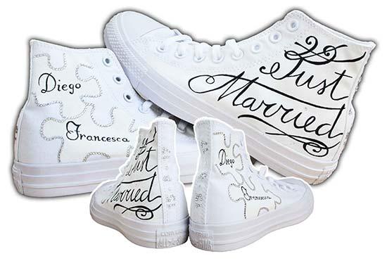 scarpe personalizzate matrimonio converse originali
