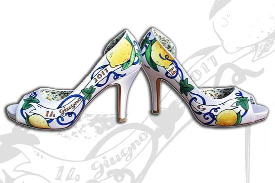 scarpe sposa originali personalizzate limoni