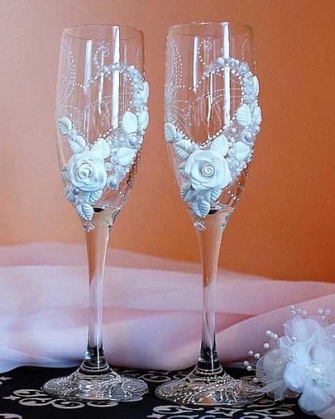 Bicchieri personalizzati originali per il brindisi del matrimonio - Bicchieri decorati per natale ...