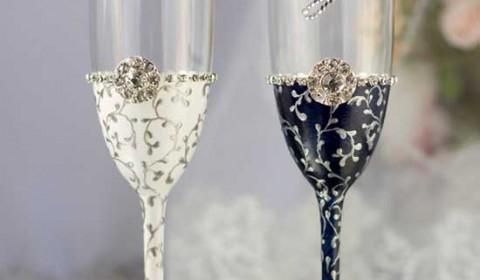 Bicchieri personalizzati brindisi sposi