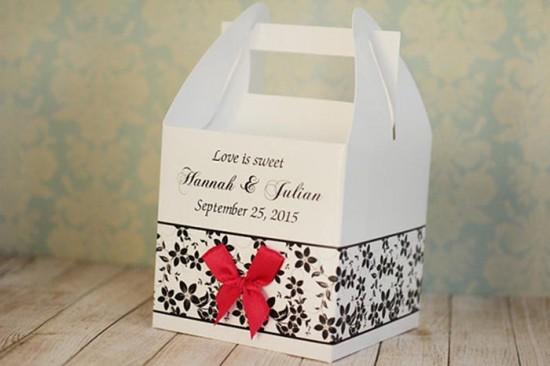 Bomboniera matrimonio scatolina cestino pranzo