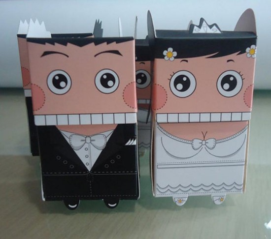 Bomboniera matrimonio scatolina sposi