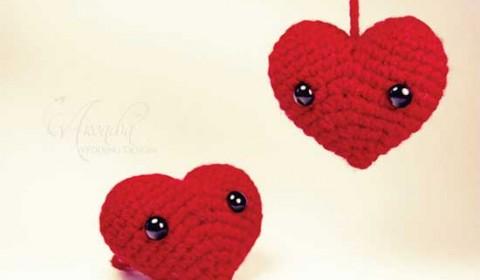 Bomboniera uncinetto cuore