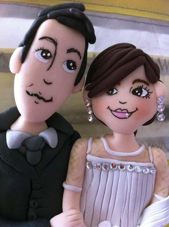 Cake topper sposini personalizzati matrimonio