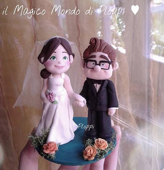 Matrimonio tema UP cake topper carl ellie
