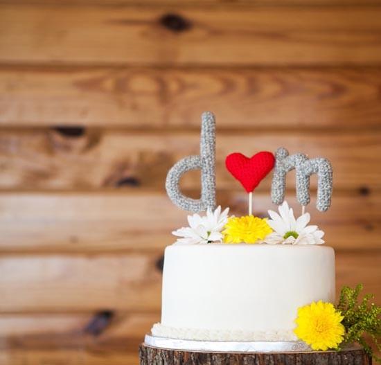 Cake topper uncinetto amigurumi iniziali