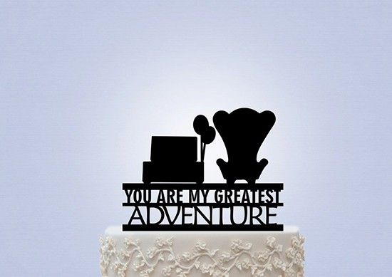 disney up carl and ellie chairs wedding cake topper tante idee per un matrimonio a tema up della disney 13574