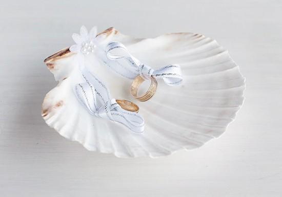Cuscino portafedi conchiglia mare