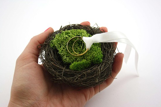 Cuscino portafedi nido