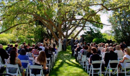 Matrimonio simbolico in giardino