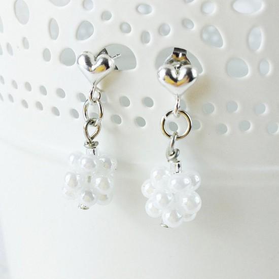 Orecchini sposa pendenti perline