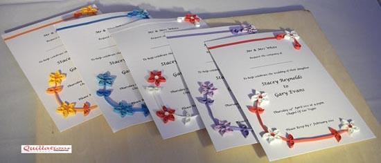 Partecipazioni quilling fiori