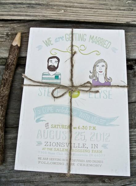 Partecipazioni ritratto sposi