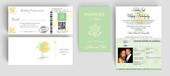 Partecipazioni tema viaggio passaporto