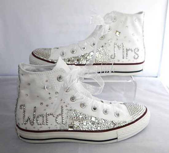 Converse shoes in wedding