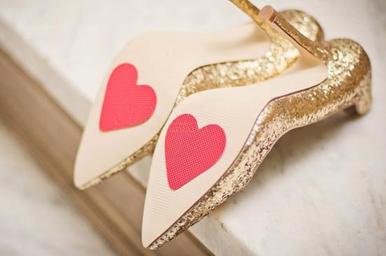 Scarpe sposa suole personalizzate adesivo cuore