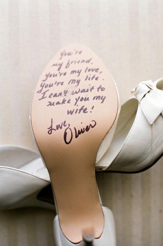 Scarpe sposa suole personalizzate messaggio