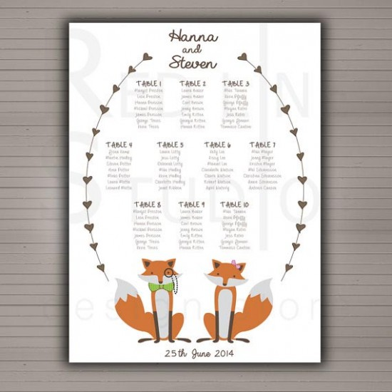 Matrimonio Tema Animali : Tableau matrimonio a quadro originali