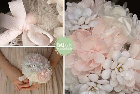 bouquet tessuto gioiello