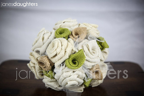 Bouquet tela stile country eco