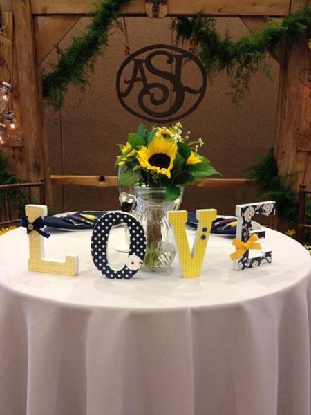 Lettere di legno dove trovarle e come usarle per il matrimonio - Allestimento casa della sposa ...