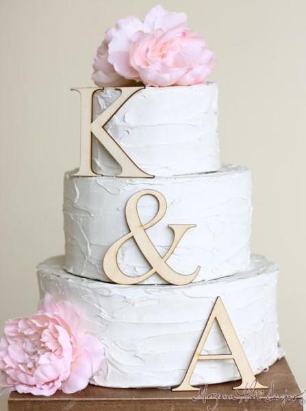 Lettere di legno decorazioni torta matrimonio