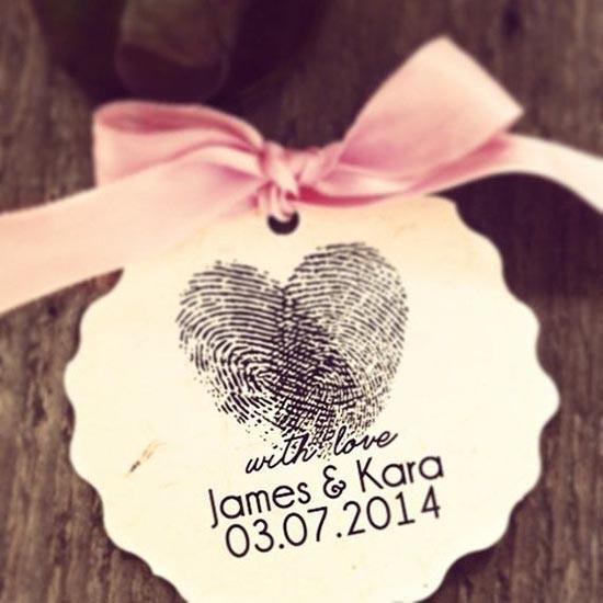 Matrimonio biglietto con timbro personalizzato