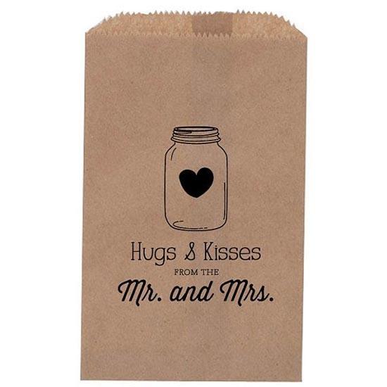 Matrimonio sacchetto confettata con timbro personalizzato