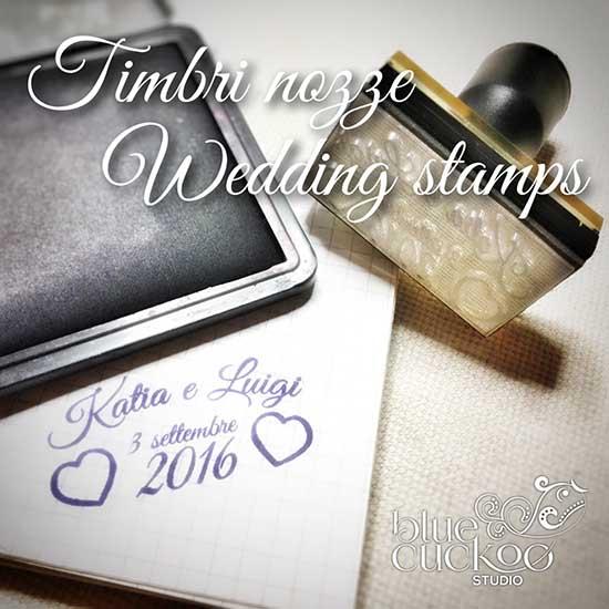 Timbro personalizzato matrimonio con nomi degli sposi e data