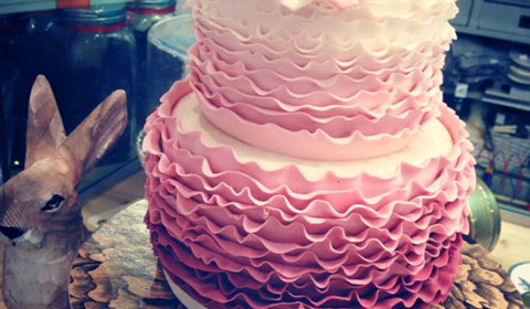 Torta matrimonio ombre rosa
