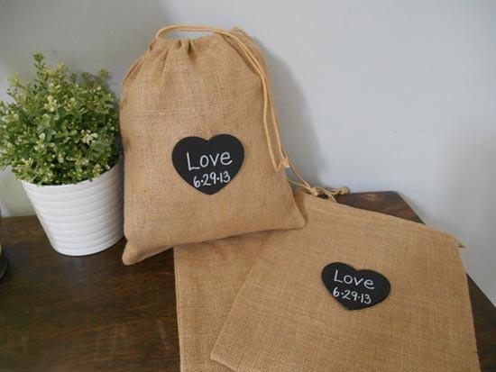 Wedding welcome bag sacca