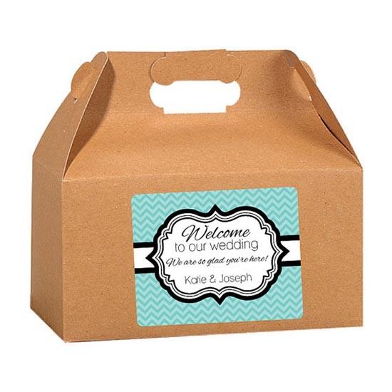 Wedding welcome bag scatola