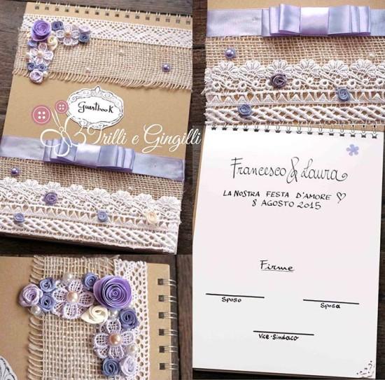 Guestbook matrimonio personalizzato