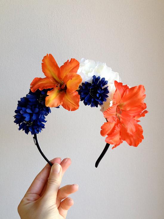 Corona di fiori per matrimonio boho-chic