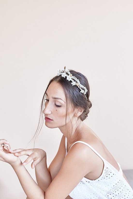 Corona da sposa con fiori