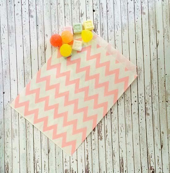 Sacchetti confettata a righe rosa