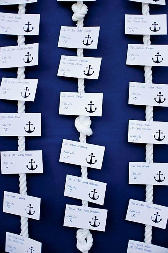 Tableau tema nautico con nodi