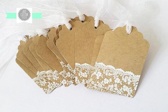Bomboniera Matrimonio Country Chic : Tag e biglietti personalizzati per bomboniere dove trovarli