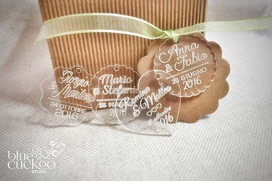 biglietti bomboniere matrimonio plexi trasparente