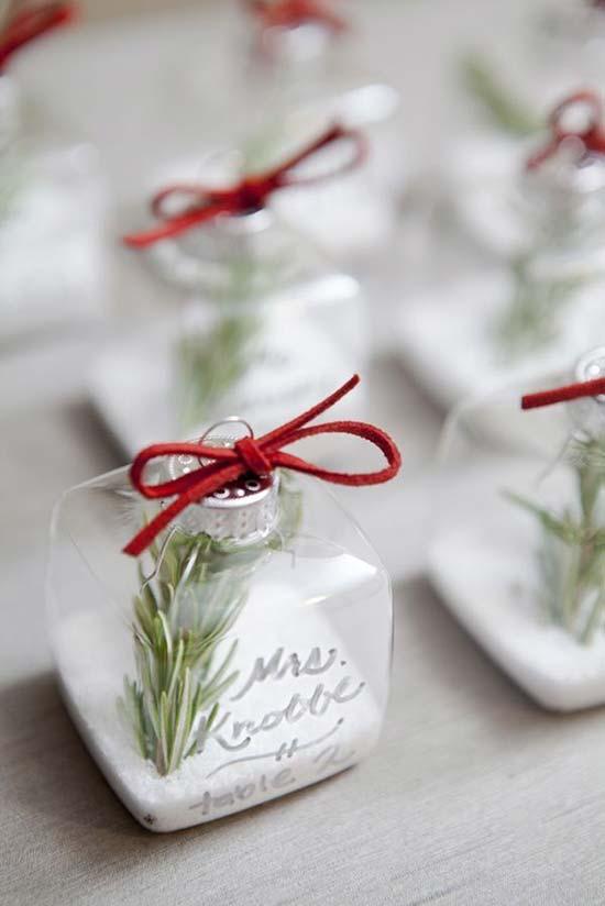 matrimonio invernale tableau escort card segnaposto palle albero