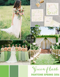 Palette colori matrimonio 2016 green flash verde