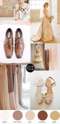 Palette colori matrimonio 2016 iced coffee marrone e oro