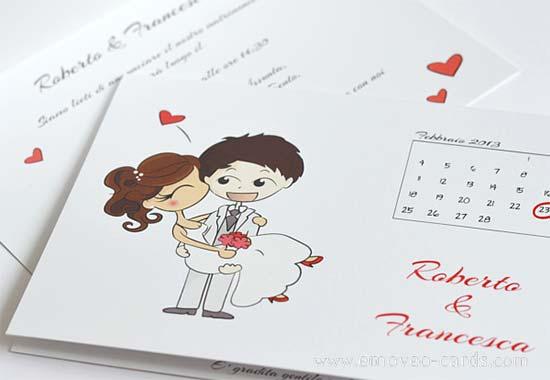 partecipazioni matrimonio divertenti cuore