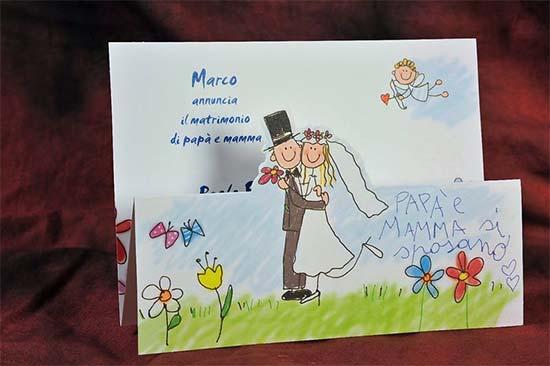 partecipazioni matrimonio spiritose con bambini