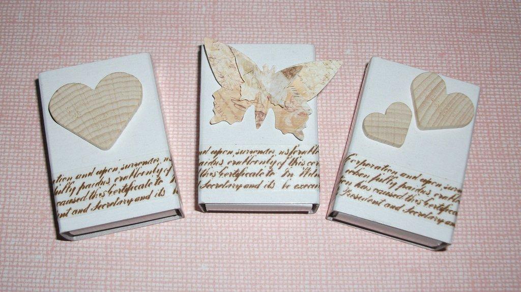 segnaposto matrimonio shabby chic scatoline portaconfetti